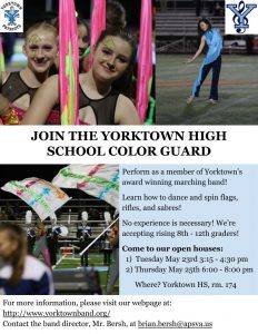 Middle School Color Guard PeachJar Flyer